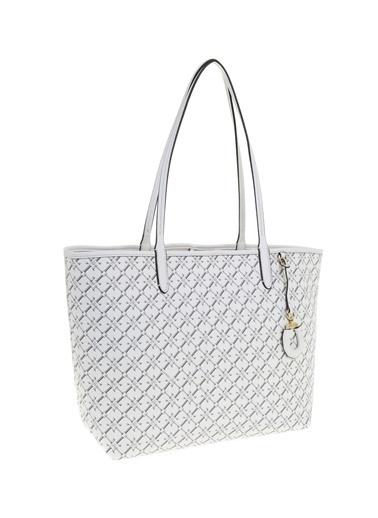 Ralph Lauren Lauren Ralph Lauren Beyaz Shopper Çanta Beyaz